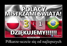 Polacy mistrzami świata, memy po meczu Polska - Brazylia Mans World, World Championship, Volleyball, Poland, Logos, World Cup, Logo, Volleyball Sayings