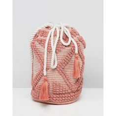 South Beach Drawstring Shoulder Bag In Lullaby Pink ($32) ❤ liked on Polyvore featuring bags, handbags, shoulder bags, beach handbags, shoulder handbags, pink shoulder handbags, pink studded purse and drawstring shoulder bag