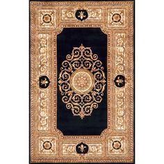 Momeni Paris Villette Hand-tufted Wool Area Rug (2' x 3') (Black Rug), Size 2' x 3'