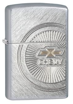Zippo Chevy Pocket Lighter with Brushed Chrome Finish ** Be sure to check out this awesome product.(This is an Amazon affiliate link and I receive a commission for the sales)