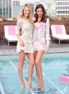 #VS Angels, Victoria's Secret, model, models, beautiful Candice Swanepoel and Miranda Kerr