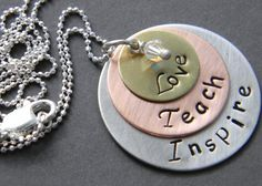 Love this for a Valentine teacher gift!  Teacher's Necklace by GlassyChix on Etsy, $32.00
