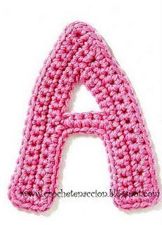 Alfabeto a crochet Crochet Chart, Crochet Motif, Crochet Flowers, Crochet Toys, Crochet Stitches, Free Crochet, Knit Crochet, Crochet Symbols, Alphabet Au Crochet