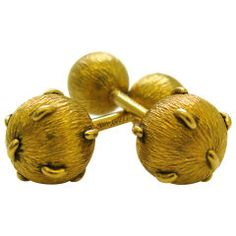 SCHLUMBERGER for TIFFANY A Pair of Gold Cufflinks