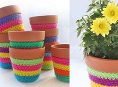 Macetas Lana, Knit Crochet, Cactus, Planter Pots, Diy, Crafty, Knitting, Creative, Cute