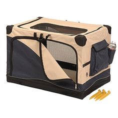 Precision Pet Small Navy / Tan Soft Outdoor Travel Dog Crate ^^ Remarkable product available now. : Dog house