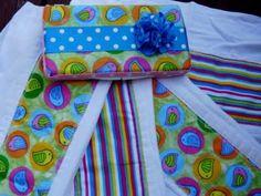 Burp cloths using Gerber cloth diapers.
