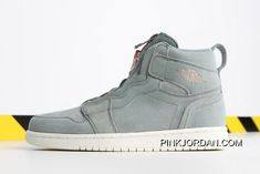 "superior quality c0ba8 38620 Women Air Jordan 1 High Zip ""Mica Green"" AQ3742-305 Authentic"