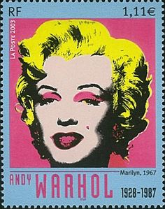 Andy Warhol's Marilyn Monroe canvases are early examples of his use of silkscreen printing. You can play with the image and create your own color combinations at this website: http://www.webexhibits.org/colorart/marilyns.html