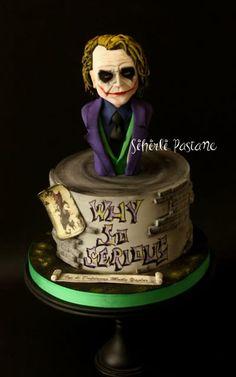 Joker Cake - cake by Sihirli Pastane Bolo Halloween, Halloween Cakes, Joker Cake, Birthday Cupcakes, 7th Birthday, Cool Cake Designs, Sculpted Cakes, Superhero Cake, Fashion Cakes