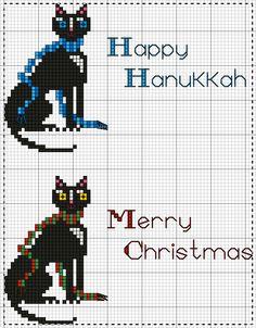 Niggy's Small Holiday Freebies ~ Happy Hanukkah / Merry Christmas Happy Merry Christmas, Christmas Cross, Cross Stitch Designs, Cross Stitch Patterns, Happy Hanukkah, Pattern Books, Cross Stitch Embroidery, Free Charts, Sting