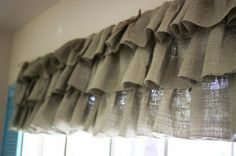I think I want to make ruffled burlap valances even though I just made toppers for my living room windows.