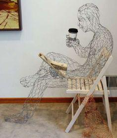 Ruth Jensen - wire sculpture