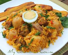 This a fantastic family meal from the Cauca or western region of Colombia. It contains two different meats - pork and chicken - and some vegetables. Colombian Dishes, My Colombian Recipes, Colombian Cuisine, Sicilian Recipes, Cuban Recipes, Columbian Recipes, Guatemalan Recipes, Comida Latina, International Recipes