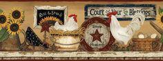 wallpaper border for kitchen - Google'da Ara