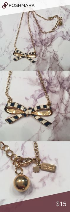 Kate spade necklace Gold. Black. White. Bow necklace. kate spade Accessories