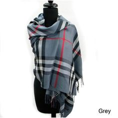 @Overstock - This scarf is excellent for cooler weather and the style is just gorgeous. This plaid scarf is made of 100-percent pashmina.http://www.overstock.com/Main-Street-Revolution/Plaid-Fringed-Pashmina-Fashion-Scarf/7441040/product.html?CID=214117 $18.99