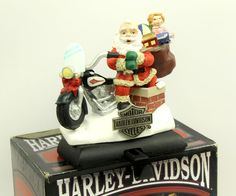 e14491ed17 Harley Davidson Santa Chimney North Pole Christmas Stocking Holder