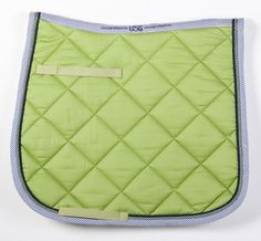 Apple Green/Navy/Seersucker Saddle Pad