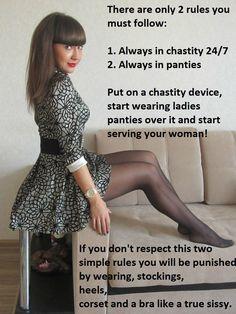 Female domination strap on chastity