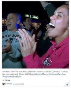 Thank God: End to manhunt brings relief, cheers across Web (Photo: NBC News) #BostonMarathon #BostonManhunt