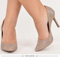 moda  look  calçados  sapato  scarpin  shoes  sotd  brilho  glitter   ecommerce  lojaonline  shop  lnl  looknowlook fb991274d00