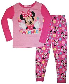 Minnie Mouse Toddler Girls 12M-5T Cotton Sleepwear Set: Amazon.com: Clothing