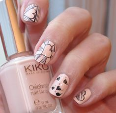 ZeChaudronMagik Valentine day nails kiko 417 #nailart #nails #fingernails