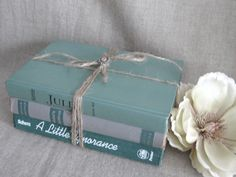 Shabby Book Bundle in Shades of Green