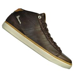 Adidas Vespa GS Mid Leather Trainer Brown