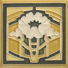 Poppy in Butter Motawi Tiles