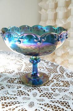 Tourquise+Antique+Carnival+Glass | visit hookedonvintage com