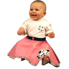 Poodle Skirt And Onesie White Pink Infant Costume From Party 411