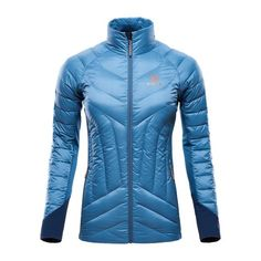 Light Down Insulation Jacket – Provincial Blue – FRONT – PAW6504