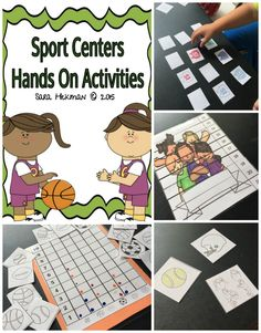 Preschool hands on activities for a sports theme. Letters, numbers, colors and more!