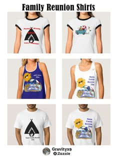 Personalize it…..a fun keepsake from your summer gathering! Add your family surname or personalize each shirt with your a first name of your family member! Beach Party #FamilyReunion T Shirts are available in a variety of colors and styles for the whole family: T-shirts, Tank Tops, Hoodie and more!  #Gravityx9 #Zazzle  -