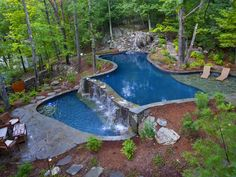 Having a pool sounds awesome especially if you are working with the best backyard pool landscaping ideas there is. How you design a proper backyard with a pool matters. Natural Swimming Pools, Swimming Pools Backyard, Swimming Pool Designs, Backyard Landscaping, Lap Pools, Indoor Pools, Pool Spa, Piscina Interior, Beautiful Pools