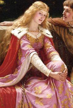 Edmund Blair Leighton,Tristan and Isolde (detail) 1902
