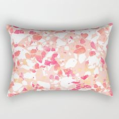 Terrazzo Delight Rectangular Pillow by elisabethfredriksson - tap to get yours #RectangularPillow #graphicdesign #digital #pattern #abstract #pink Down Pillows, Bed Pillows, Girly Bedroom Decor, Digital Pattern, Terrazzo, Accent Pillows, Pillow Inserts, Hand Sewing, Graphic Design