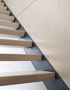 It's all in the details. Staircase perfection. Wood House, Chicago, IL. Architect: Brininstool & Lynch. Christopher Barrett Photographer. (Click on photo for high-res. image.) Photo found here: http://www.archdaily.com/548984/wood-house-brininstool-lynch/