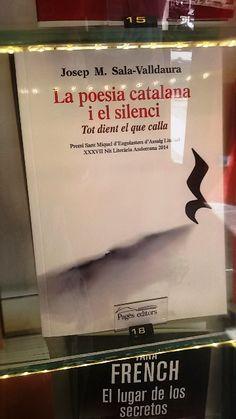 """""""La poesia catalana i el silenci, tot dient el que calla"""" de Josep M. Sala-Valldaura. Pagès Editors."""