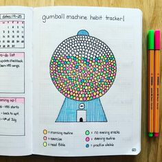 Nicht noch so ein bullet journal guide teil 5 groartige module this gumball habit tracker is one of my favorite spreads ive ever made solutioingenieria Images