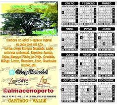 Calendario Ecológico 2.018 – Jorge Enrique Moncada Angel
