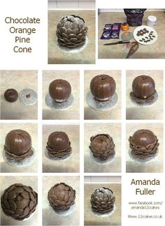 Chocolate orange and buttons pine cone tutorial