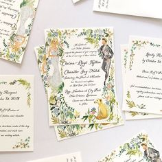 Romantic New Orleans wedding stationery, custom watercolor illustrated by Jolly . Romantic New Orleans wedding stationery, custom watercolor illustrated by Jolly Edition Easter Invitations, Watercolor Wedding Invitations, Custom Wedding Invitations, Wedding Stationary, Illustrated Wedding Invitations, Stationary Design, Engagement Invitations, Menu Design, Design Design
