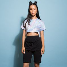 Holographic Crop T- Shirt