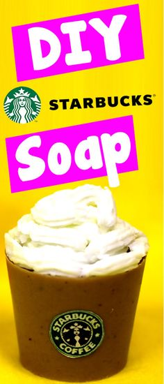 DIY Crafts - Starbucks Soap! Learn how to make your own DIY Starbucks Soap!! This is a super easy way to have your own soap with a Starbucks theme. In this DIY craft video tutorial you will learn how to use melt and pour glycerin soap to make Starbucks