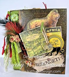 Serengeti Album/Kathy Clement cover step out tutorial for binding on my blog