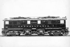 PRR 7850, first of the road's eight class O1 electrics of 1930–31, stands for a builder's photo. Intended as the electric equivalent of an E6s 4-4-2, the 2-B-2 box-cabs were too light for most duties.