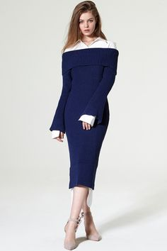 Piena Off-the-Shoulder Knit Dress Discover the latest fashion trends online at storets.com